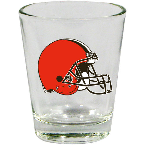 CLEVELAND BROWNS 2OZ. BOTTOMS UP COLLECTOR GLASS