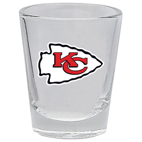 KANSAS CITY CHIEFS 2OZ. BOTTOMS UP COLLECTOR GLASS