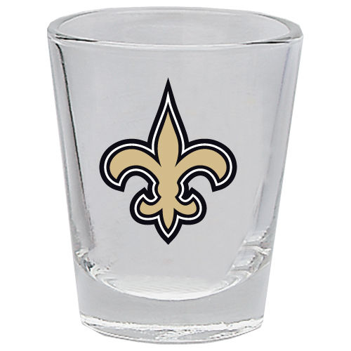 NEW ORLEANS SAINTS 2OZ. BOTTOMS UP COLLECTOR GLASS