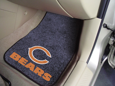 Chicago Bears NFL Car Mats 2 Piece Front