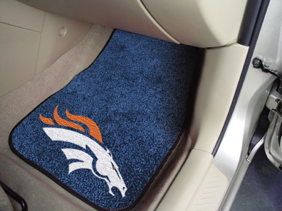 Denver Broncos NFL Car Mats 2 Piece Front