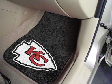 Kansas City Chiefs NFL Car Mats 2 Piece Front