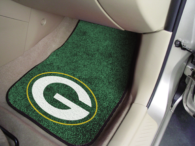 Green Bay Packers NFL Car Mats 2 Piece Front