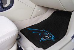 Carolina Panthers NFL Car Mats 2 Piece Front