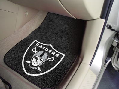 Oakland Raiders NFL Car Mats 2 Piece Front