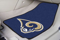 St.Louis Rams NFL Car Mats 2 Piece Front