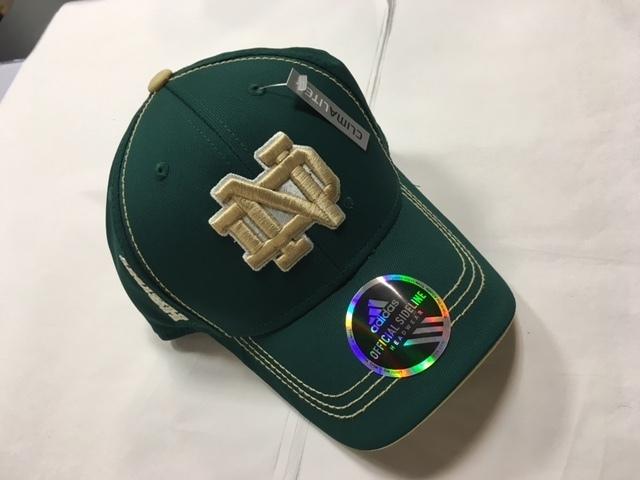 Notre Dame Green Stretch Fit Clima-Lite Hat d5ffbfc242b