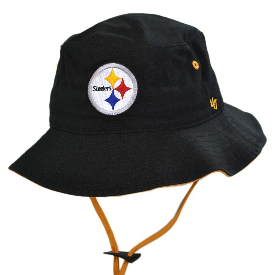 Pittsburgh Steelers 47 Brand Bucket Hat 1d6c6cf795e7