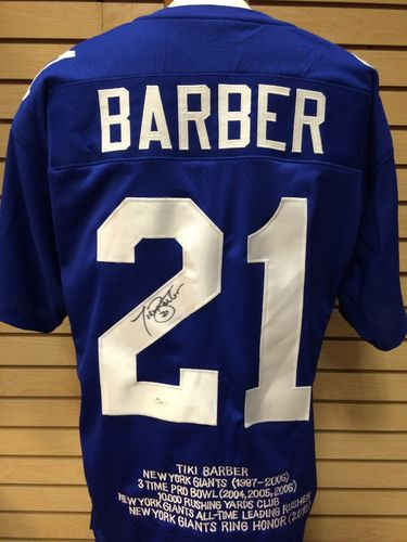 Tiki Barber Autographed New York Giants Jersey #21