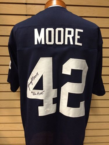 Lenny Moore Autographed Penn State Jersey #42