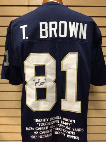 Tim Brown Autographed Notre Dame Fighting Irish Jersey #81