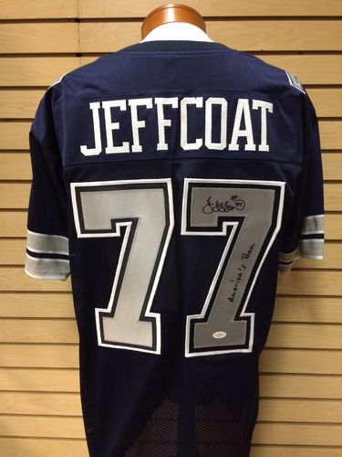 Jim Jeffcoat Autographed Dallas Cowboys Jersey #77