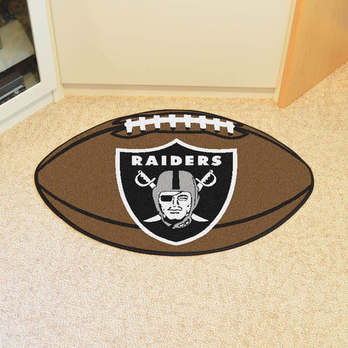 Oakland Raiders Football Floor Mat