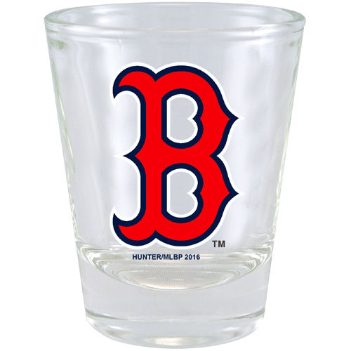 Boston Red Sox 2 oz Collector Shot Glass Clear