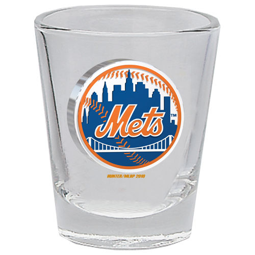 New York Mets 2 oz Collector Shot Glass Clear