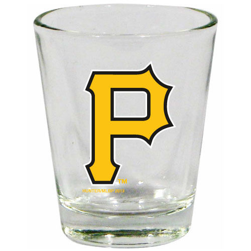 Pittsburgh Pirates 2 oz Collector Shot Glass Clear