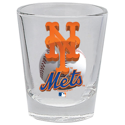 New York Mets 2 oz Collector 3D Shot Glass Clear