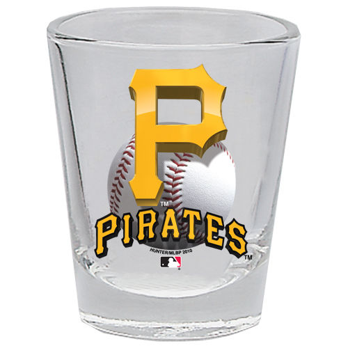 Pittsburgh Pirates 2 oz Collector 3D Shot Glass Clear