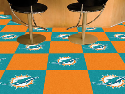 Miami Dolphins Carpet Tiles