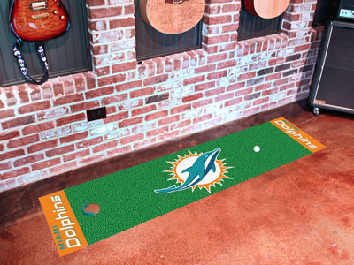 Miami Dolphins Golf Putting Mat