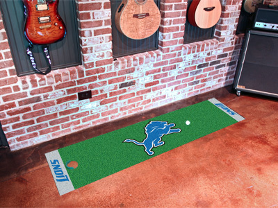 Detroit Lions Golf Putting Mat