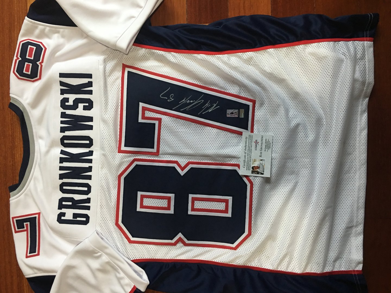 buy popular 1d646 53b43 Rob Gronkowski New England Patriots Autograph Jersey