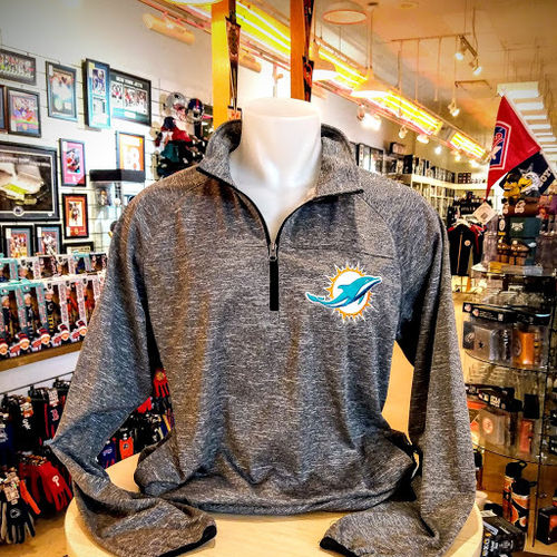 Miami Dolphins Grey Pullover Jacket