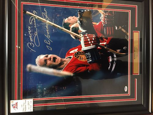 Bobby Hull Framed Autograph Photo