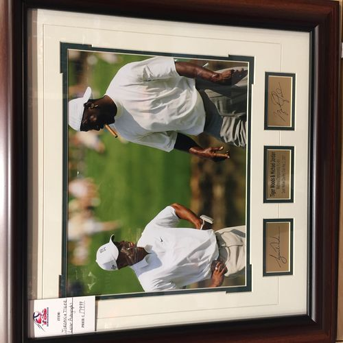 Tiger woods and Michael Jordan Framed Autographed Photo