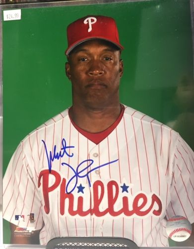 Philadelphia Phillies Milt Thompson Autograph 8x10 Photo