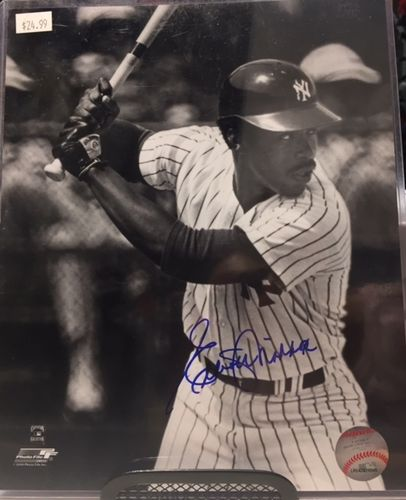 New York Yankees Elliott Maddox Autograph 8x10 Photo