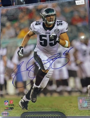 Philadelphia Eagles Stewart Bradley Autograph 8x10 Photo