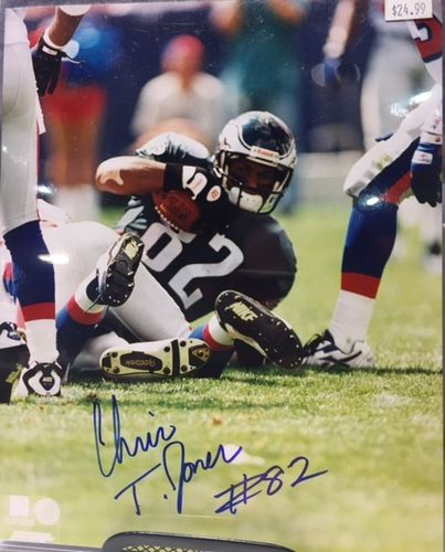 Philadelphia Eagles Chris T. Jones Autograph 8x10 Photo