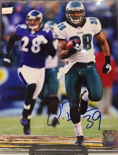 Philadelphia Eagles Quentin Demps Autograph 8x10 Photo