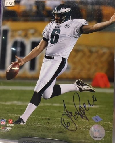 Philadelphia Eagles Sav Rocca Autograph 8x10 Photo