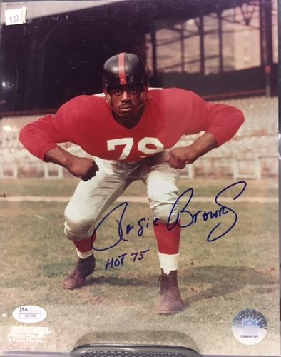 San Francisco 49ers Roosevelt Brown Autograph 8x10 Photo