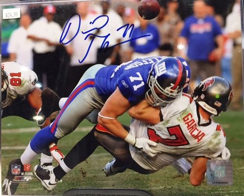 New York Giants Dave Tollefson Autograph 8x10 Photo