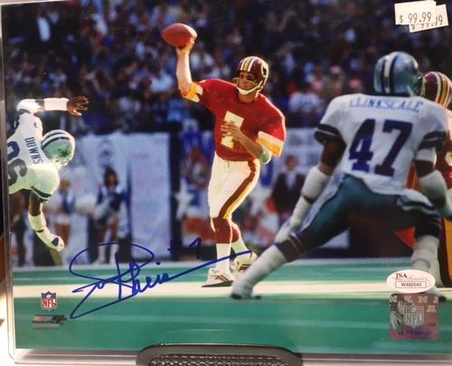 Washington Redskins Joe Theisman Autograph 8x10 Photo