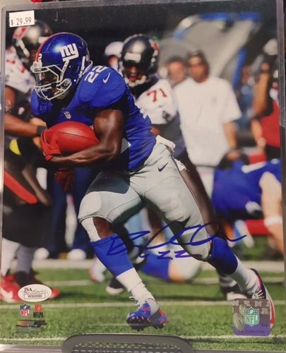 New York Giants David Wilson Autograph 8x10 Photo