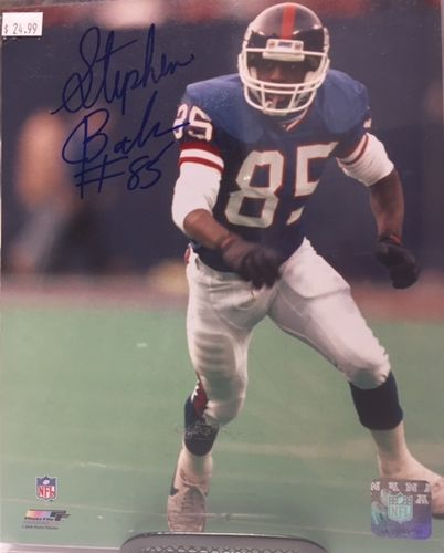 New York Giants Stephen Baker Autograph 8x10 Photo