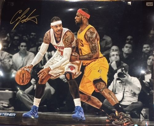 New York Knicks Carmelo Anthony Autograph 16x20 Photo