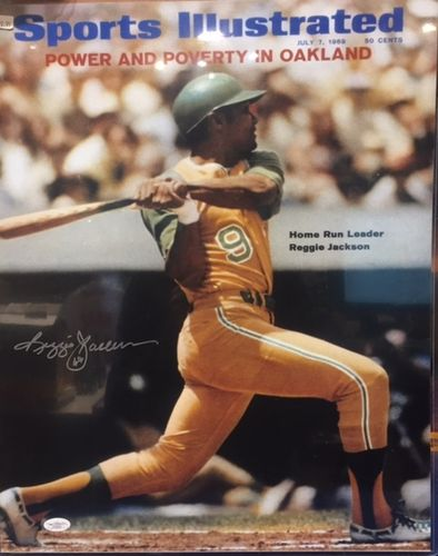 Oakland Athletics Reggie Jackson Autograph 16x20 Photo