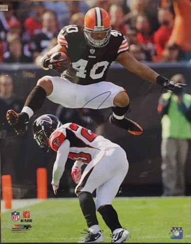 Cleveland Browns Peyton Hillis Autograph 16x20 Photo