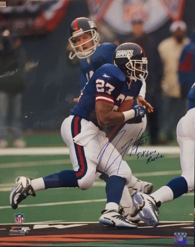 New York Giants Rodney Hampton Autograph 16x20 Photo