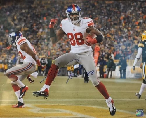 New York Giants Hakeem Nicks Autograph 16x20 Photo