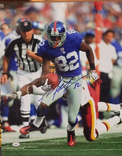 New York Giants Mario Manningham Autograph 16x20 Photo