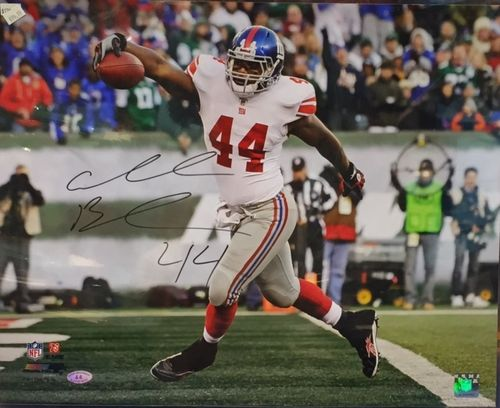 New York Giants Ahmad Bradshaw Autograph 16x20 Photo
