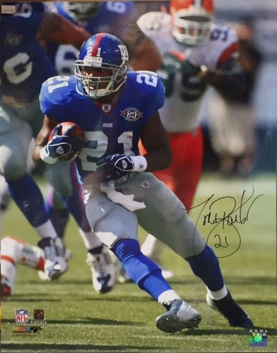 New York Giants Tiki Barber Autograph 16x20 Photo