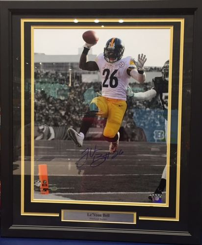 Pittsburgh Steelers Le'Veon Bell Autograph Photo Framed