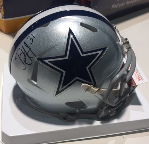 Dallas Cowboys Byron Jones Autographed Mini Helmet